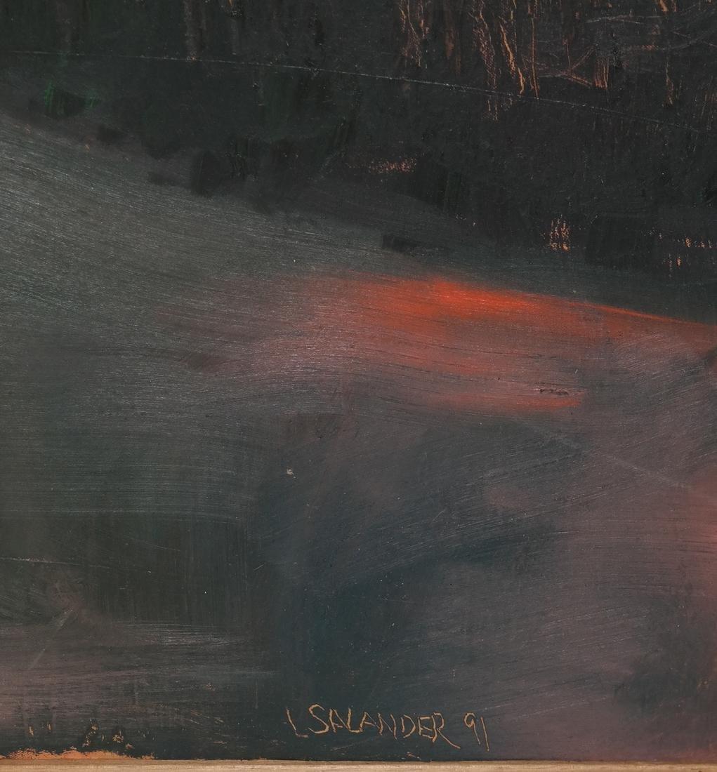 L. Salander O/C, Signed, Dated, 1991 - Sunrise - 3