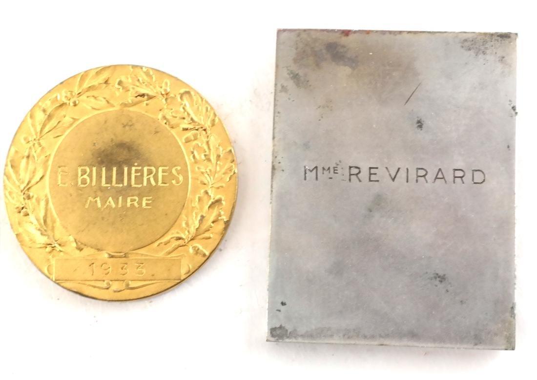 Five Art Nouveau Medals & Plaques - 3