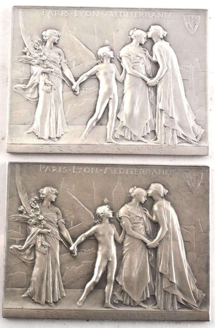 9 Art Nouveau Bronze Medals - 2