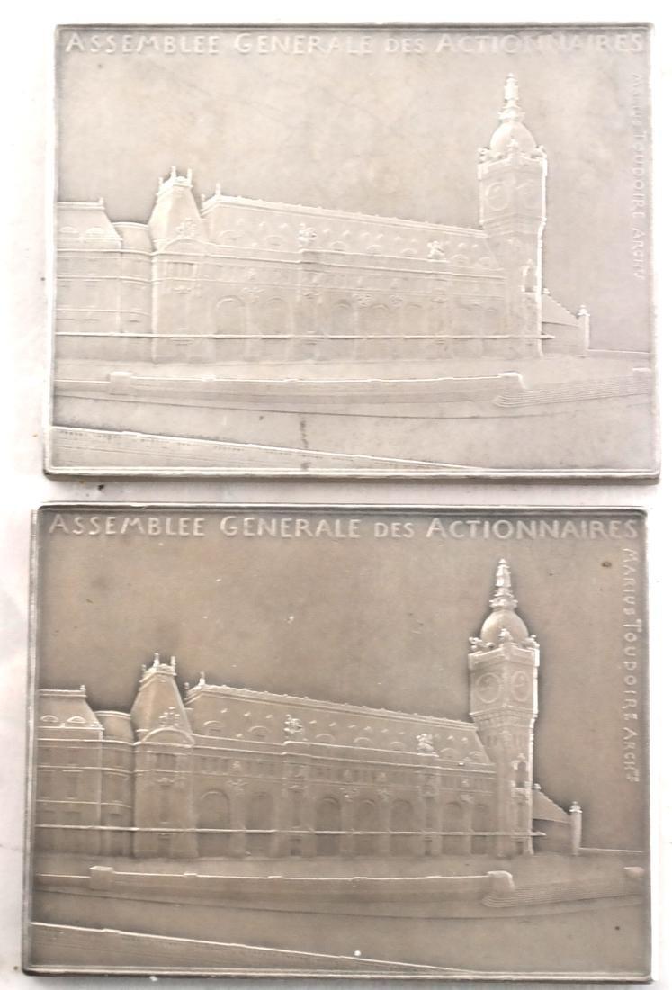 9 Art Nouveau Bronze Medals - 3