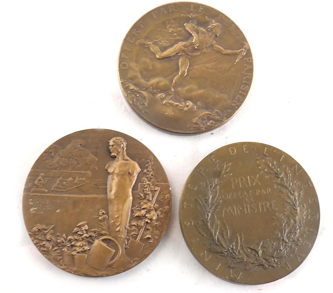 9 Art Nouveau Bronze Medals - 5