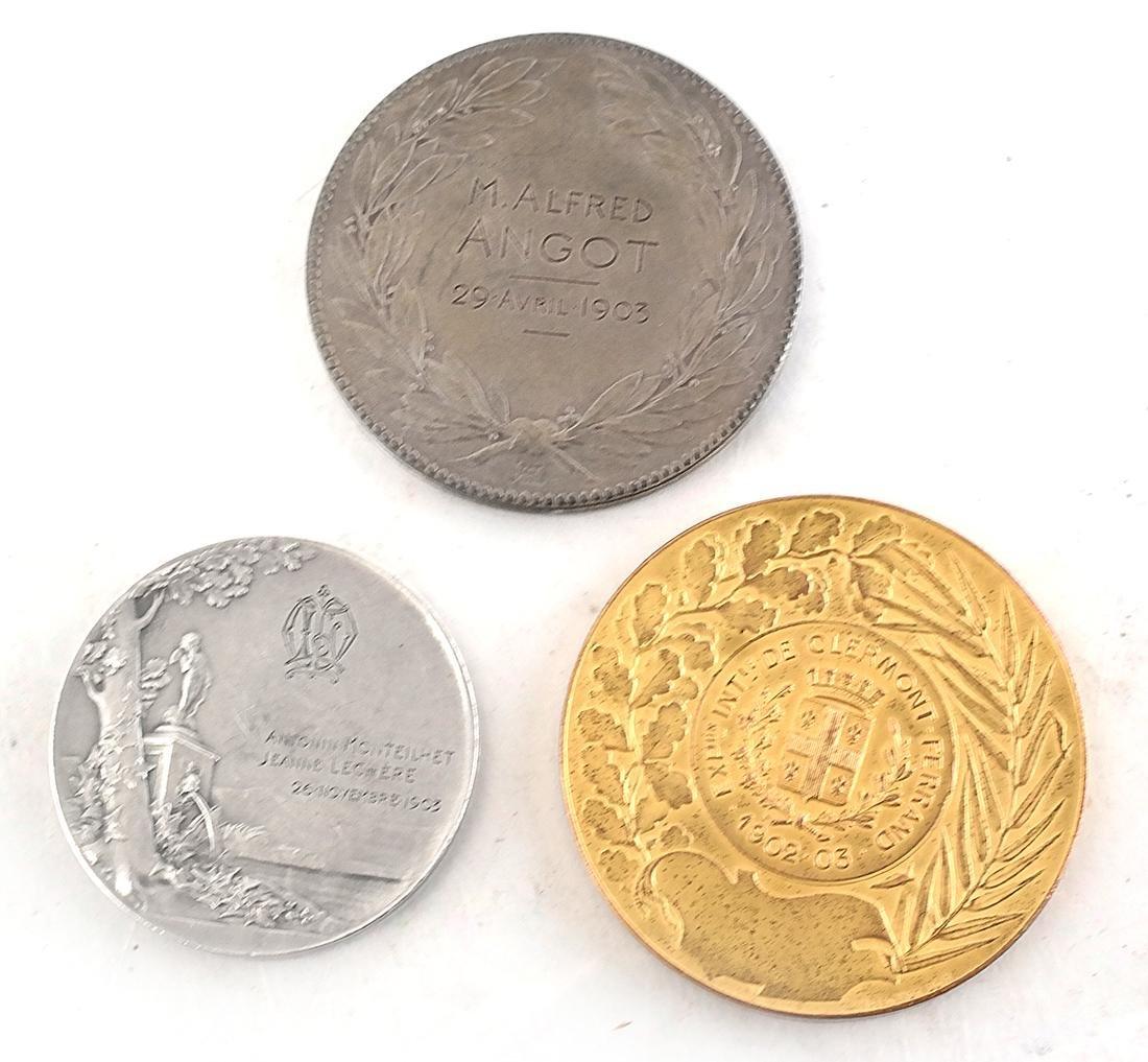 9 Art Nouveau Bronze Medals - 7