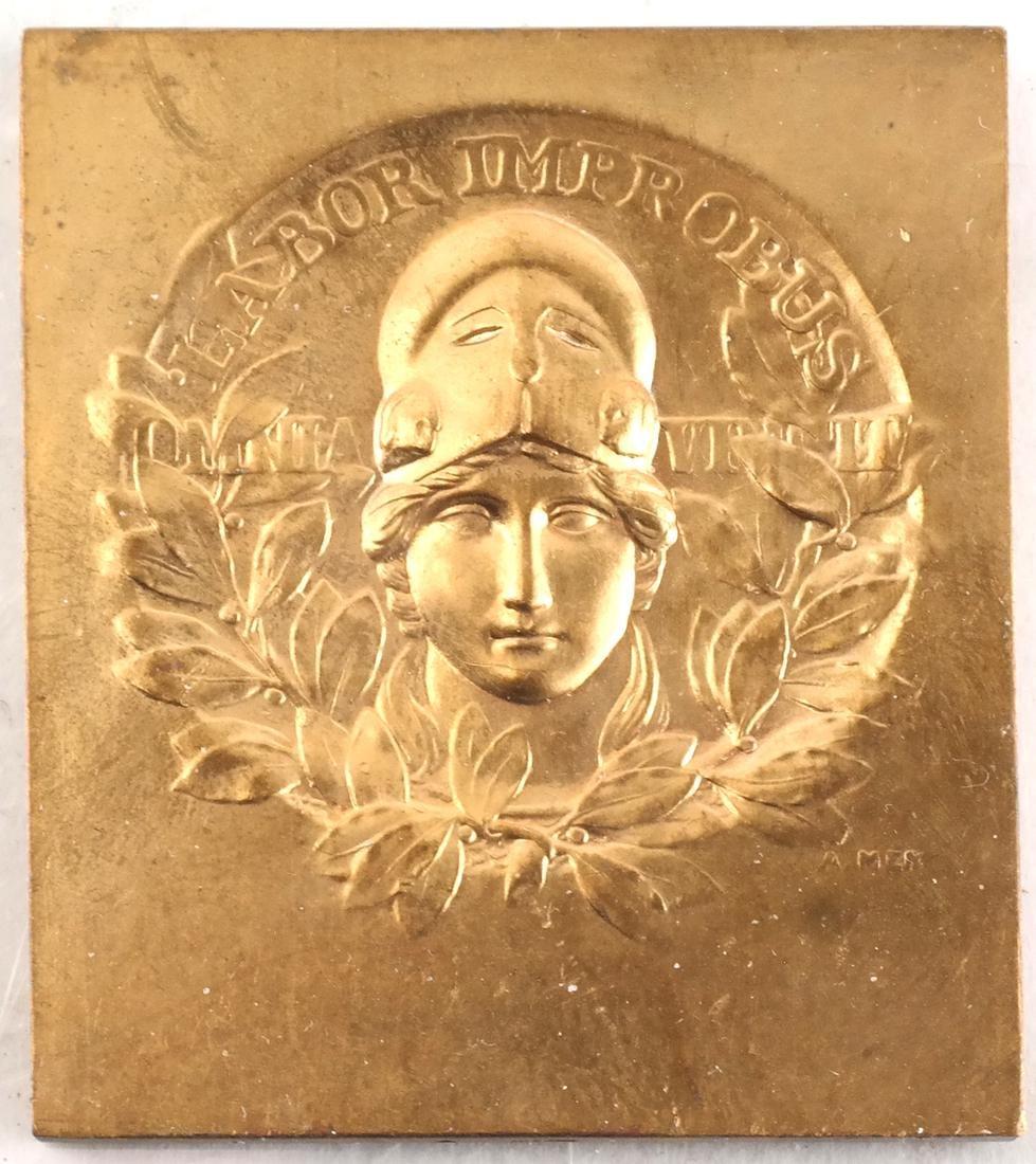 9 Art Nouveau Bronze Medals - 8