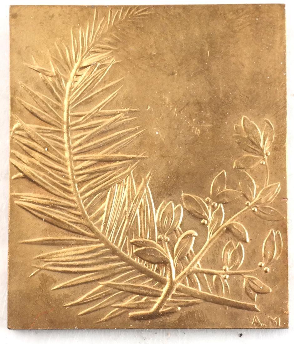 9 Art Nouveau Bronze Medals - 9