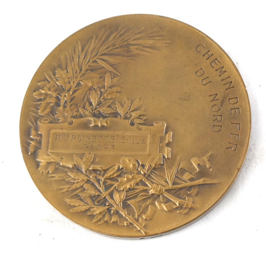 Six Bronze Art Nouveau Medals - 10