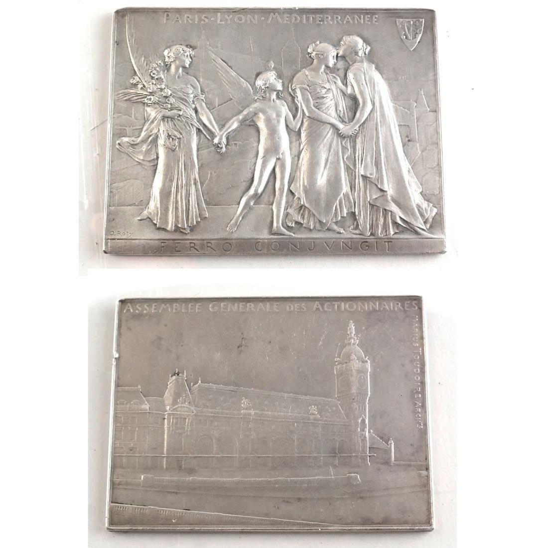 Six Bronze Art Nouveau Medals - 2