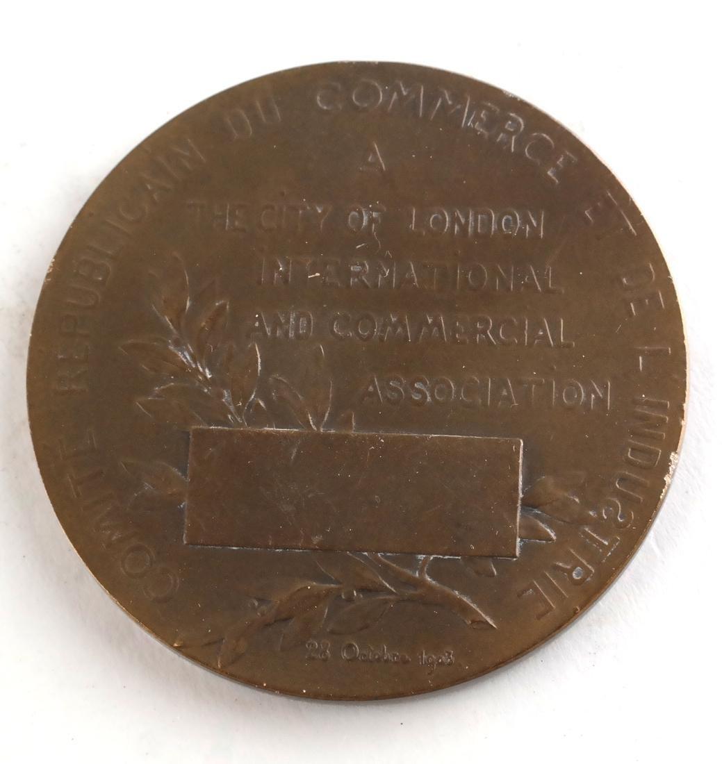 Six Bronze Art Nouveau Medals - 4