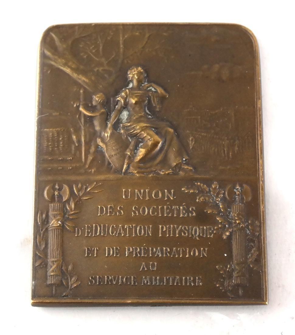 Six Bronze Art Nouveau Medals - 5