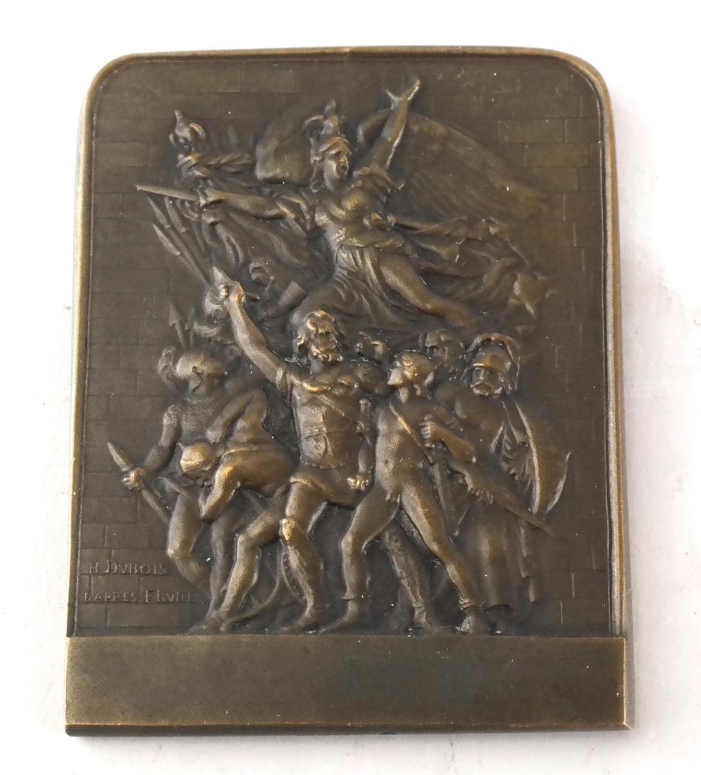 Six Bronze Art Nouveau Medals - 6
