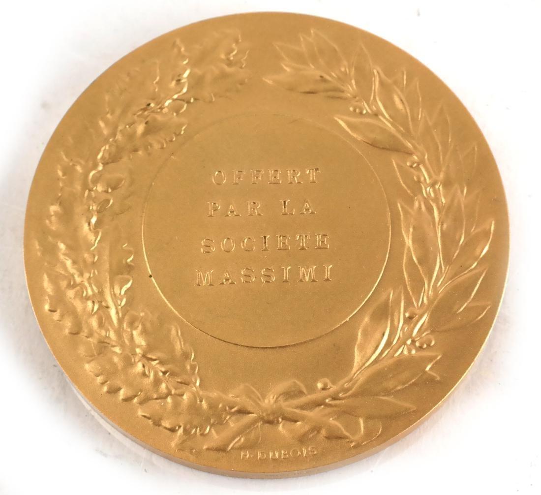 Six Bronze Art Nouveau Medals - 7