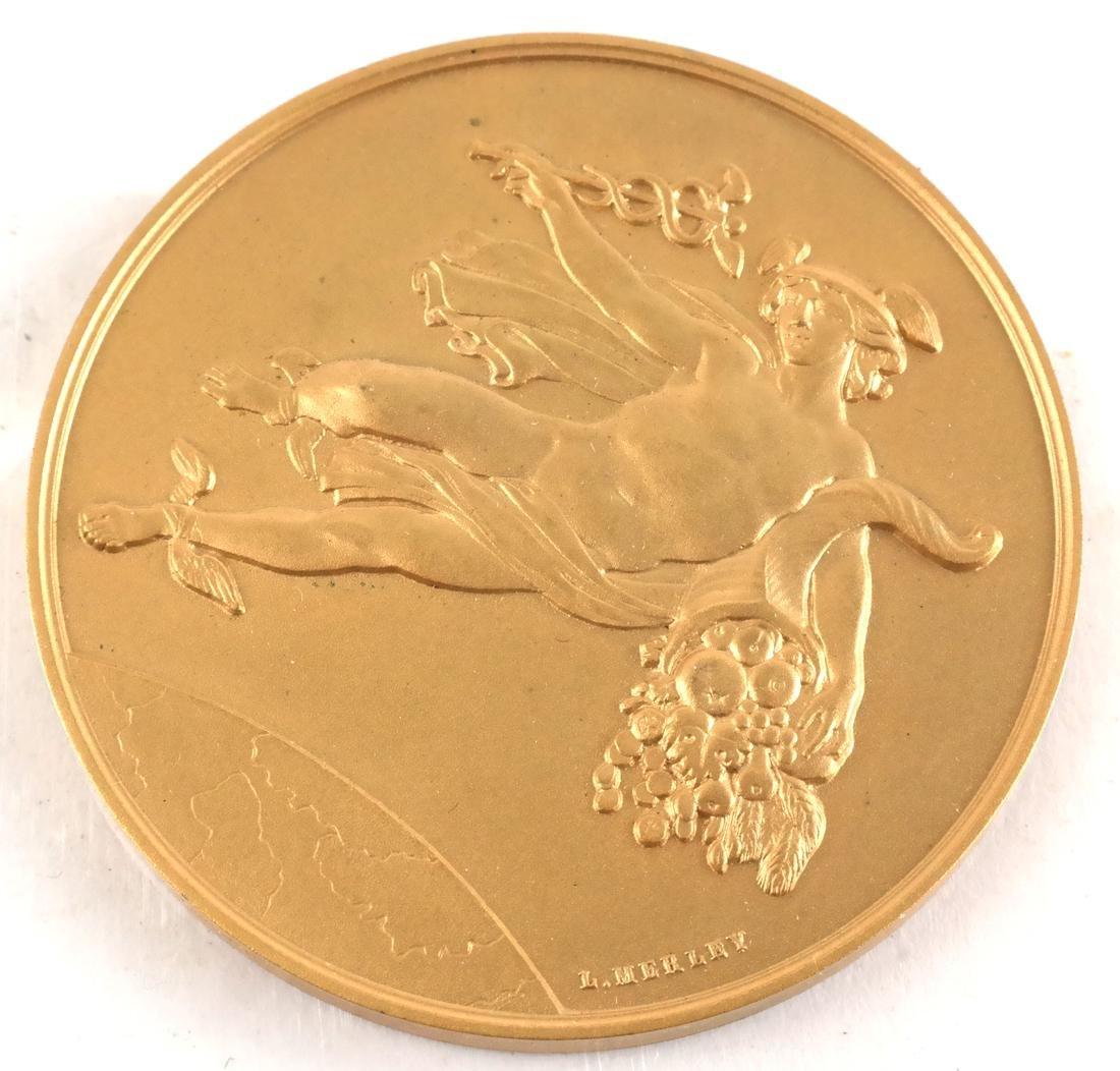 Six Bronze Art Nouveau Medals - 8