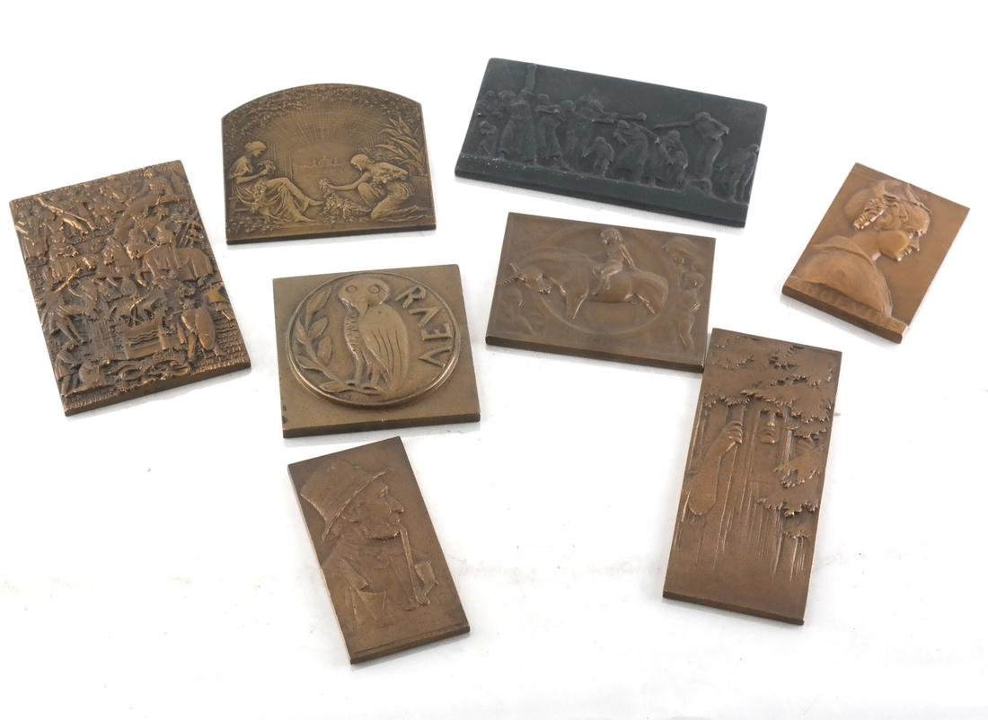 (8) Bronze Medals c. 1900, 1930, Later