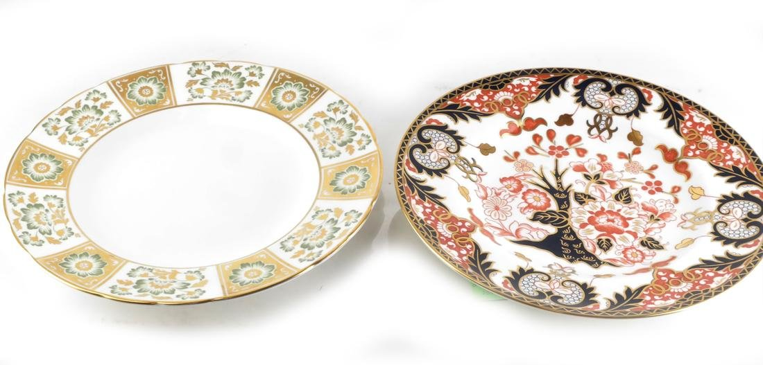 (2) Royal Crown Derby Cabinet Plates