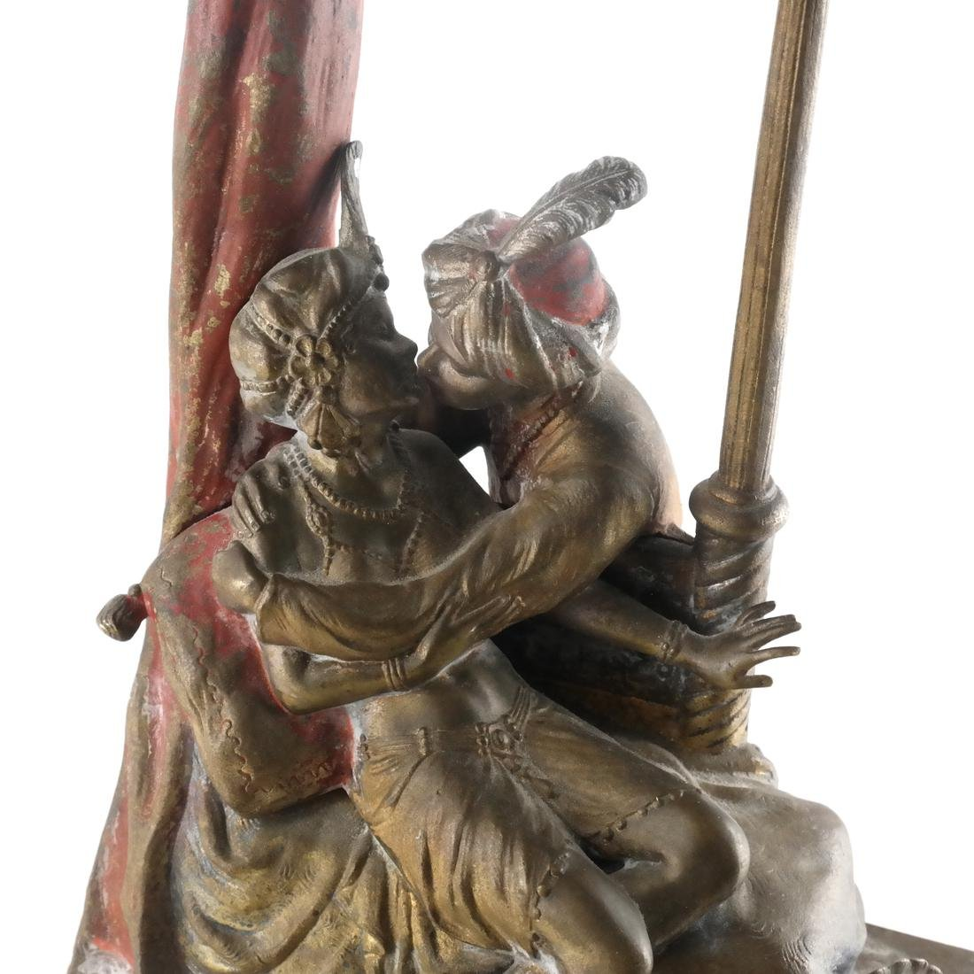 Bergman Cold Painted Bronze Lamp, 19th-20th Century - 2