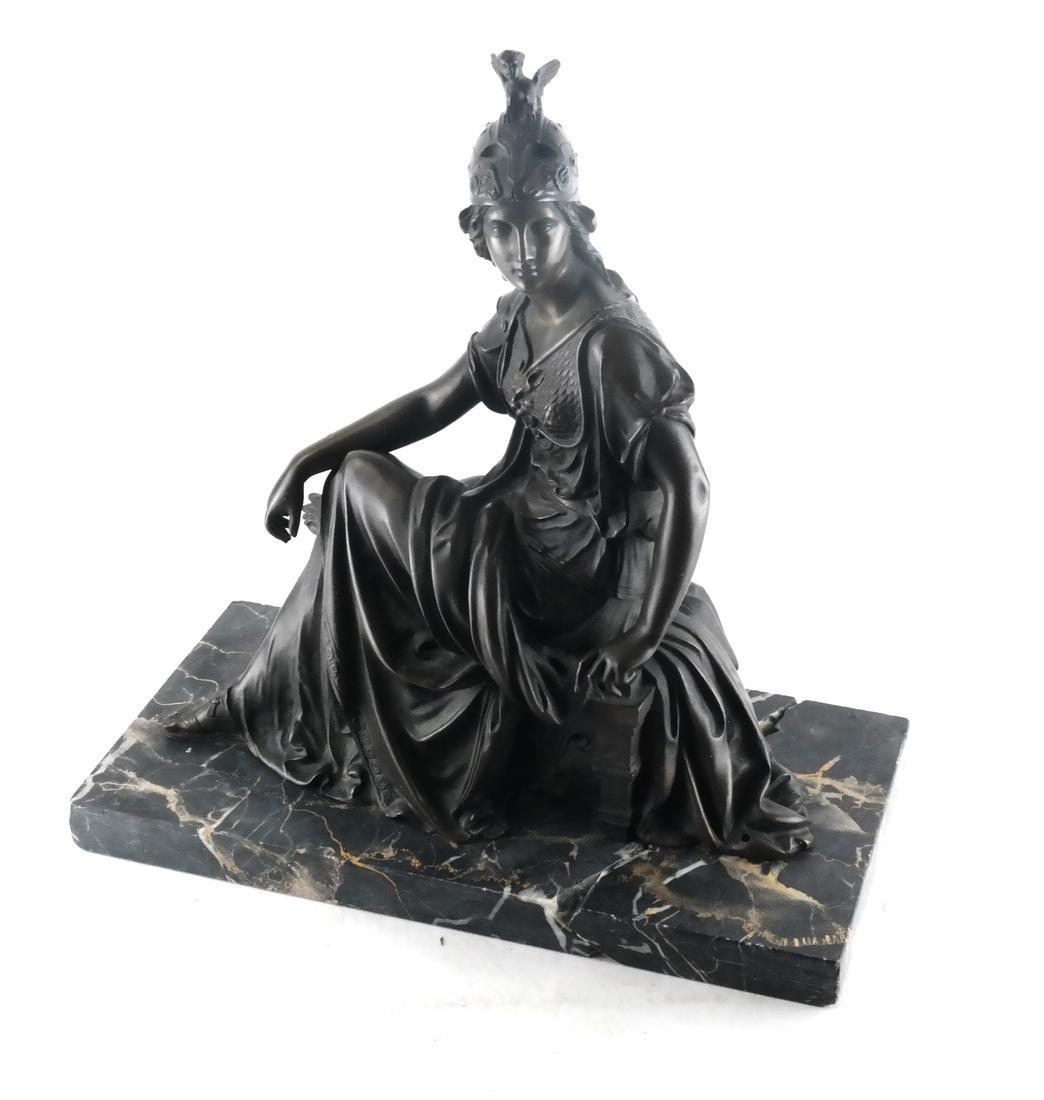 L. Pilet, Joan of Arc Bronze Sculpture