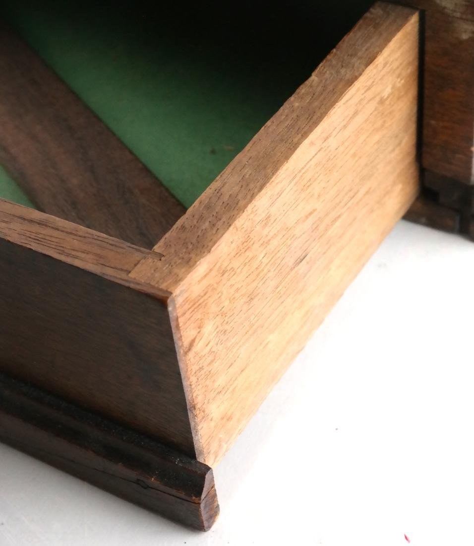 Antique Cylinder Roll Lap Desk - 4
