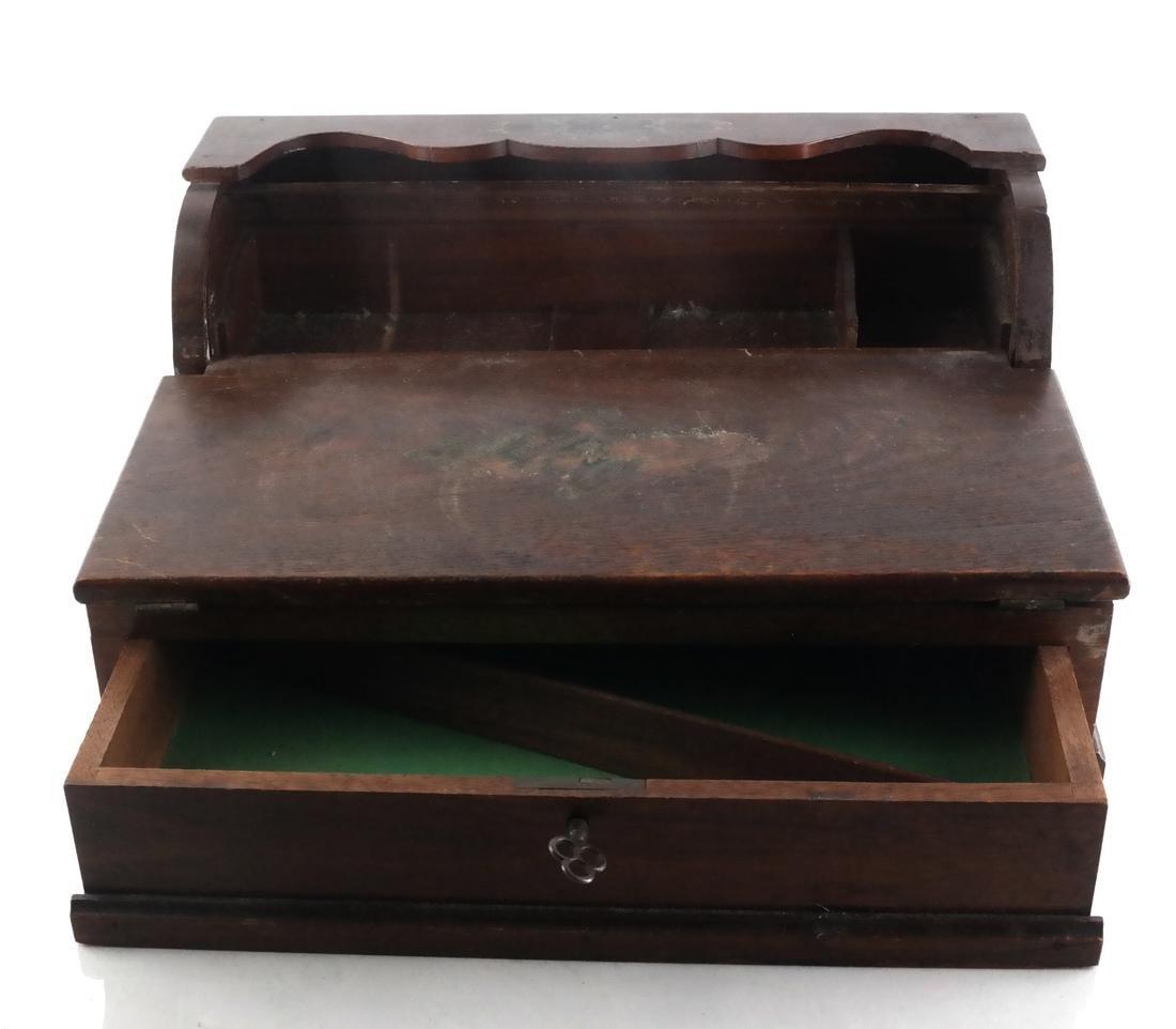 Antique Cylinder Roll Lap Desk - 5