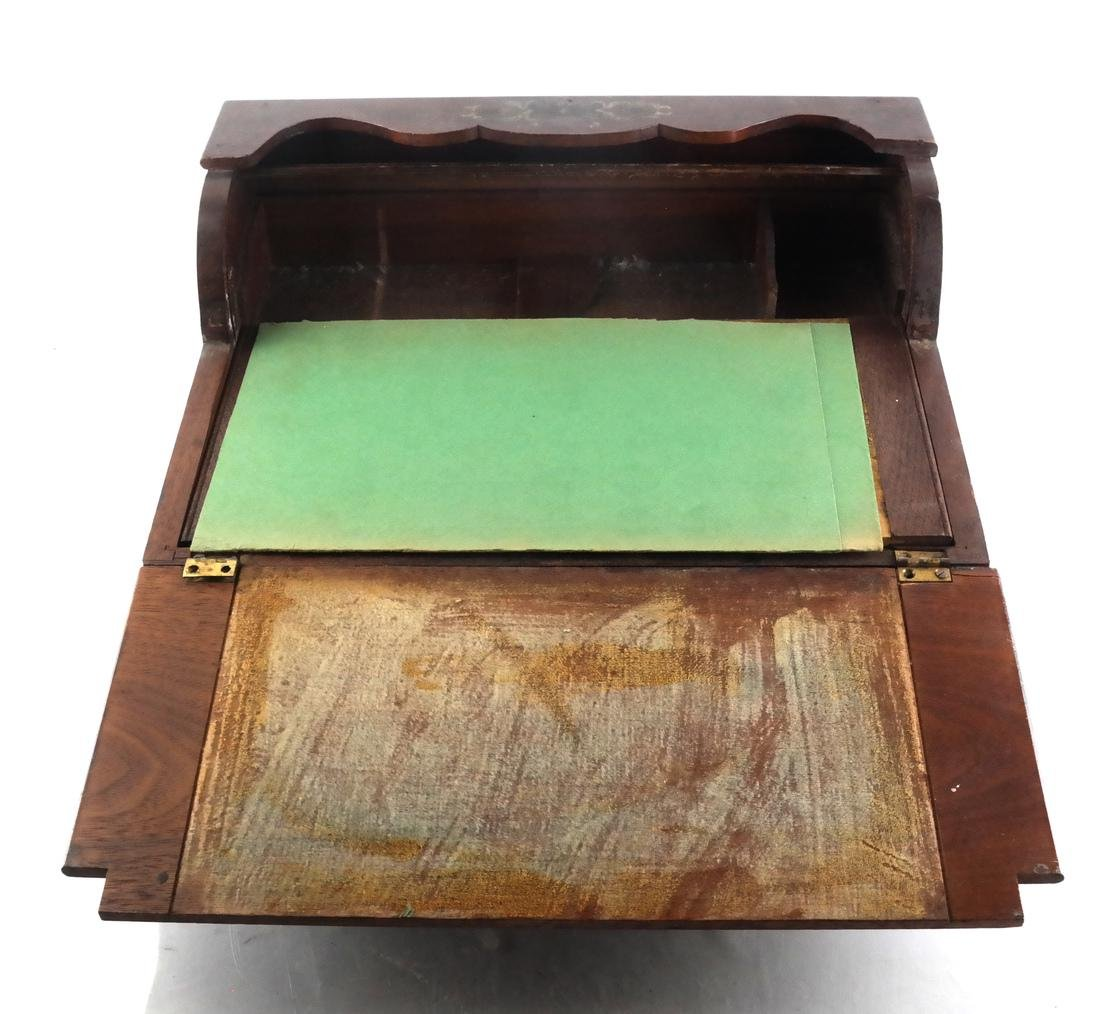 Antique Cylinder Roll Lap Desk - 6