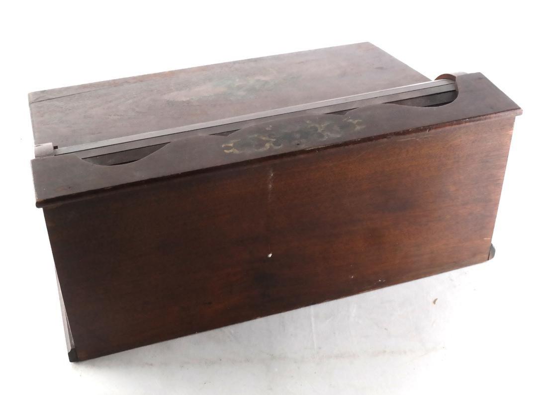 Antique Cylinder Roll Lap Desk - 7