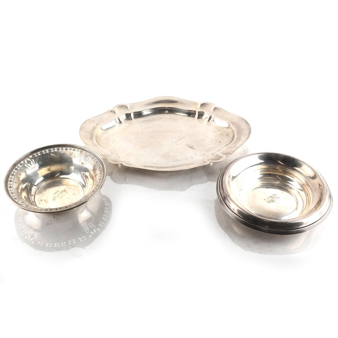 3 Sterling Silver Serving Dishes/Bowls
