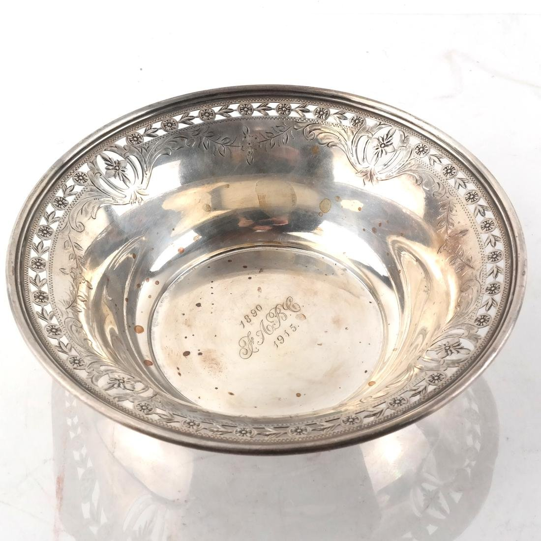 3 Sterling Silver Serving Dishes/Bowls - 4