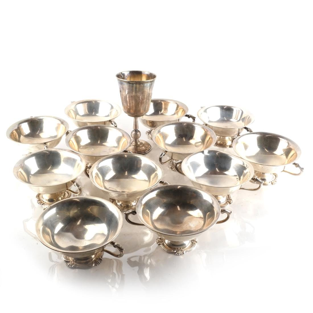 Peruvian Silver Sorbet Cups & Another