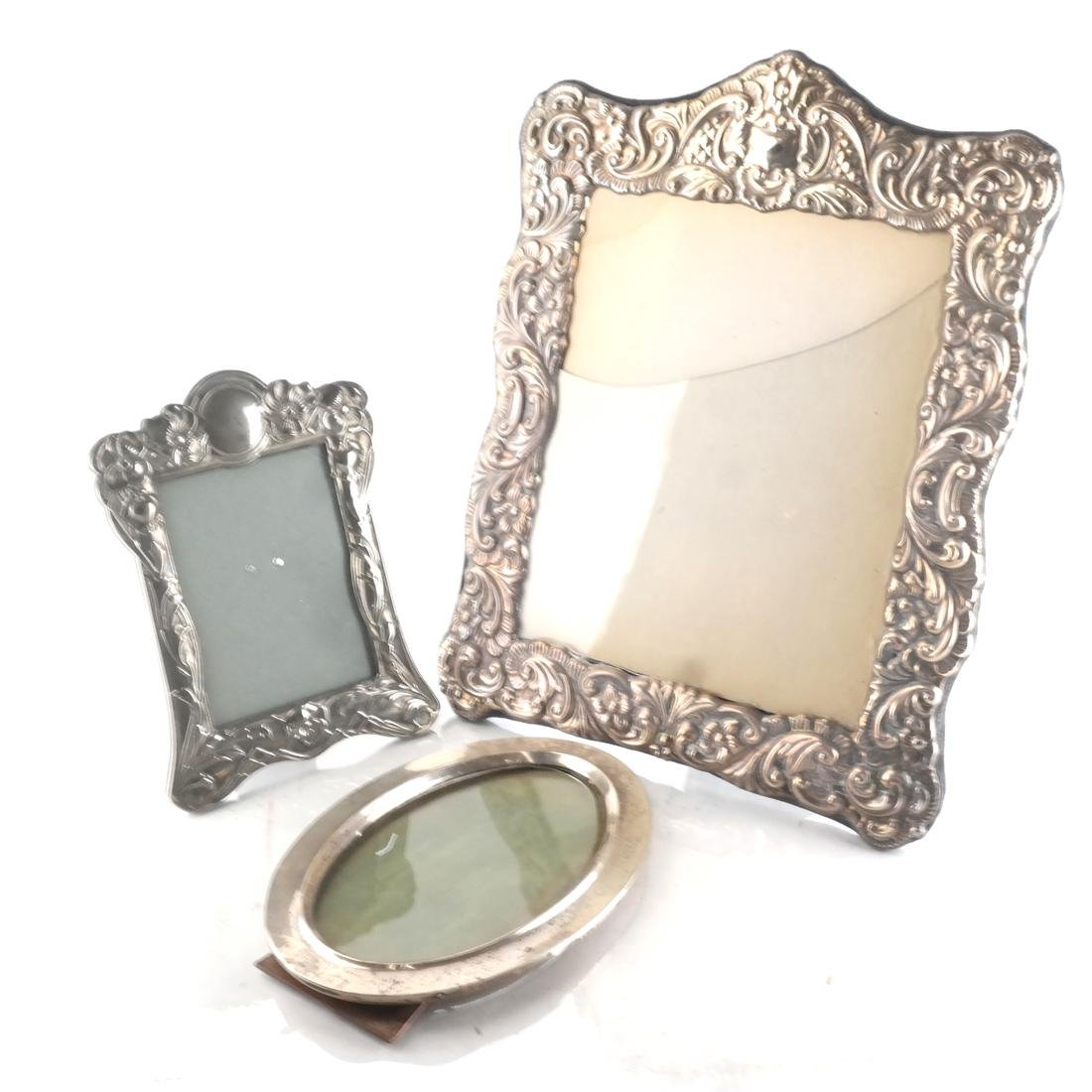 Two Silver and One Silver Plate Frame