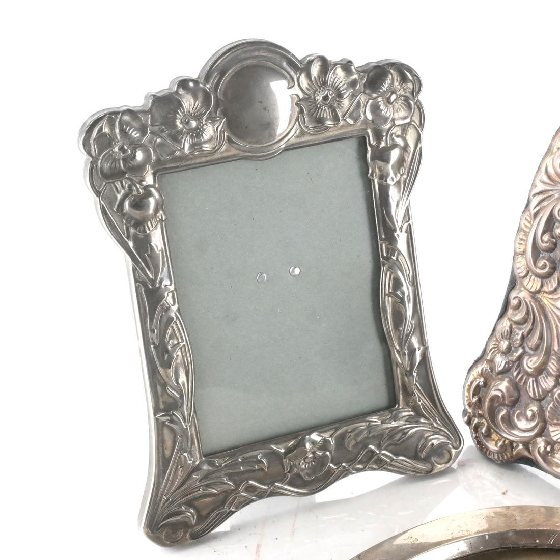Two Silver and One Silver Plate Frame - 3