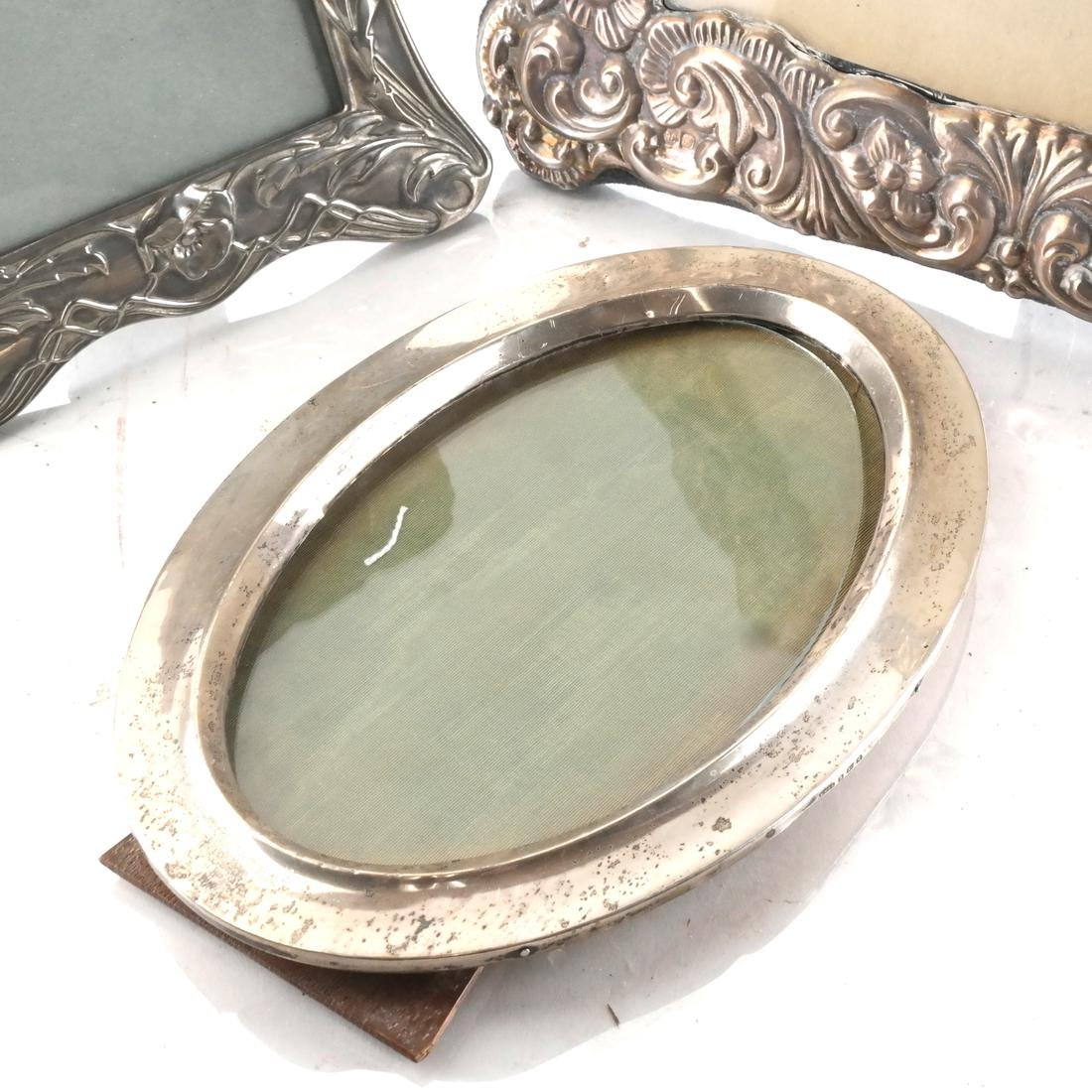 Two Silver and One Silver Plate Frame - 4
