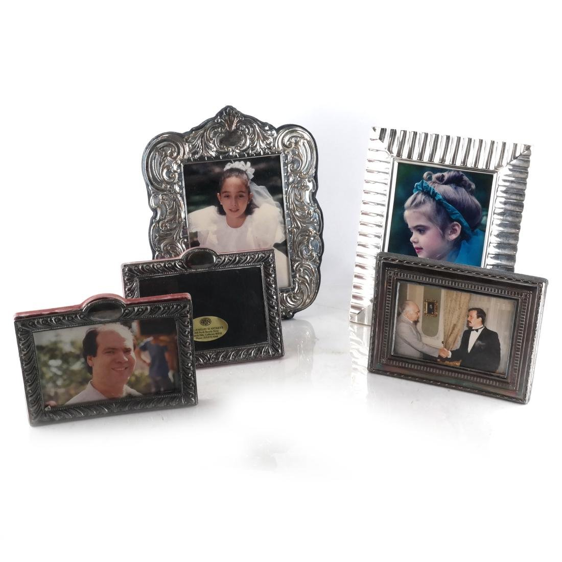 5 Silver Pictures Frames