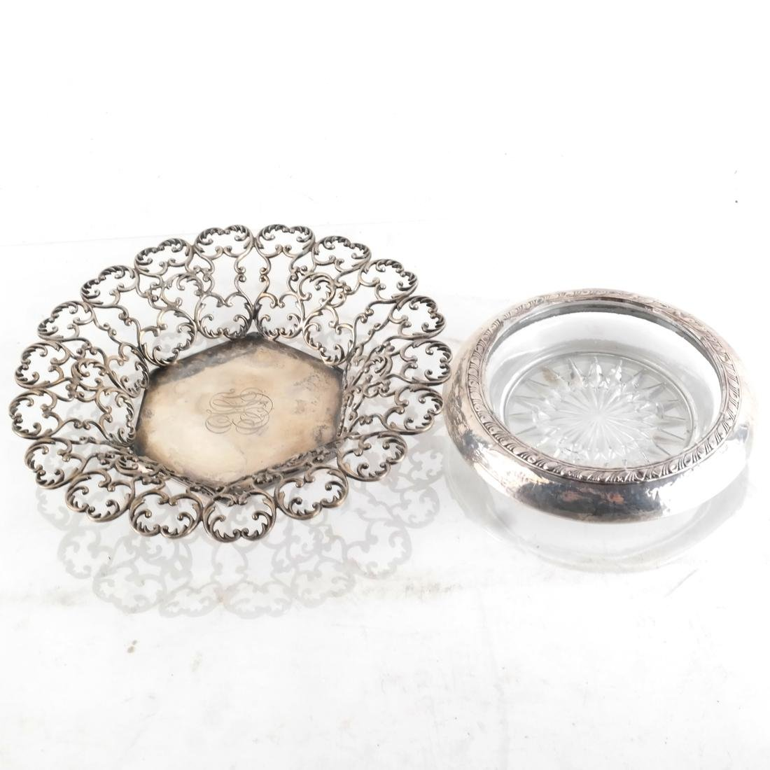 Asst. Silver Pin Trays, Receivers, Flasks - 4