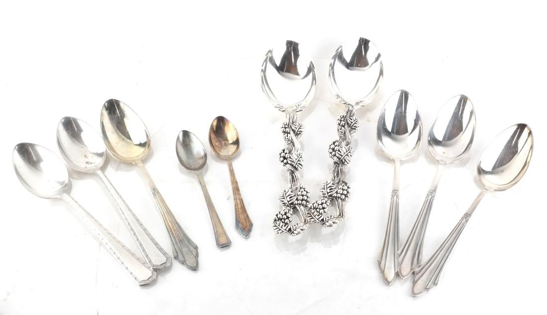 Silver Plate Flatware, and Partial Svc - 2