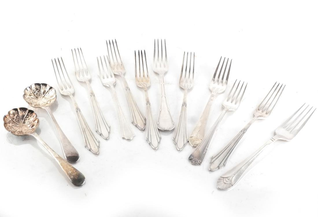 Silver Plate Flatware, and Partial Svc - 4