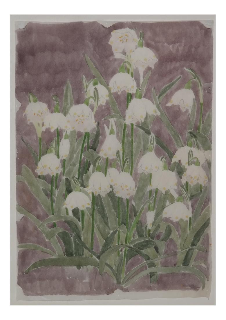 "Edna B. Hopkins Watercolor ""Lily"""