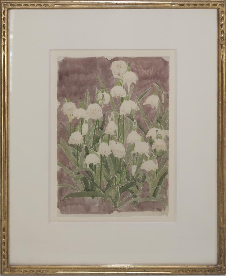 "Edna B. Hopkins Watercolor ""Lily"" - 2"