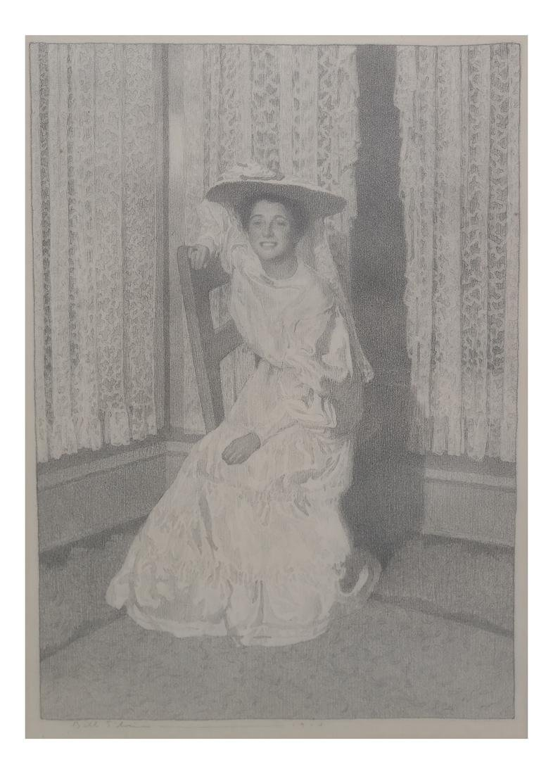 Belle Silveira Gorski, Portrait - Framed Drawing