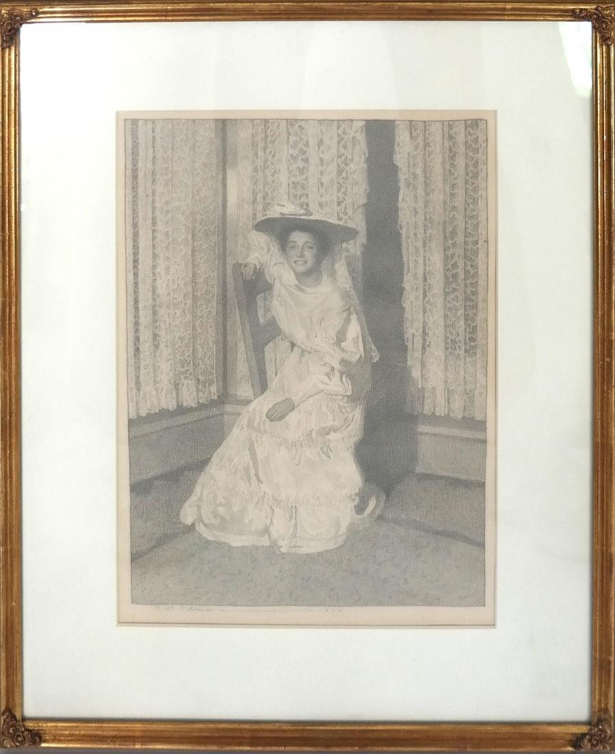 Belle Silveira Gorski, Portrait - Framed Drawing - 2