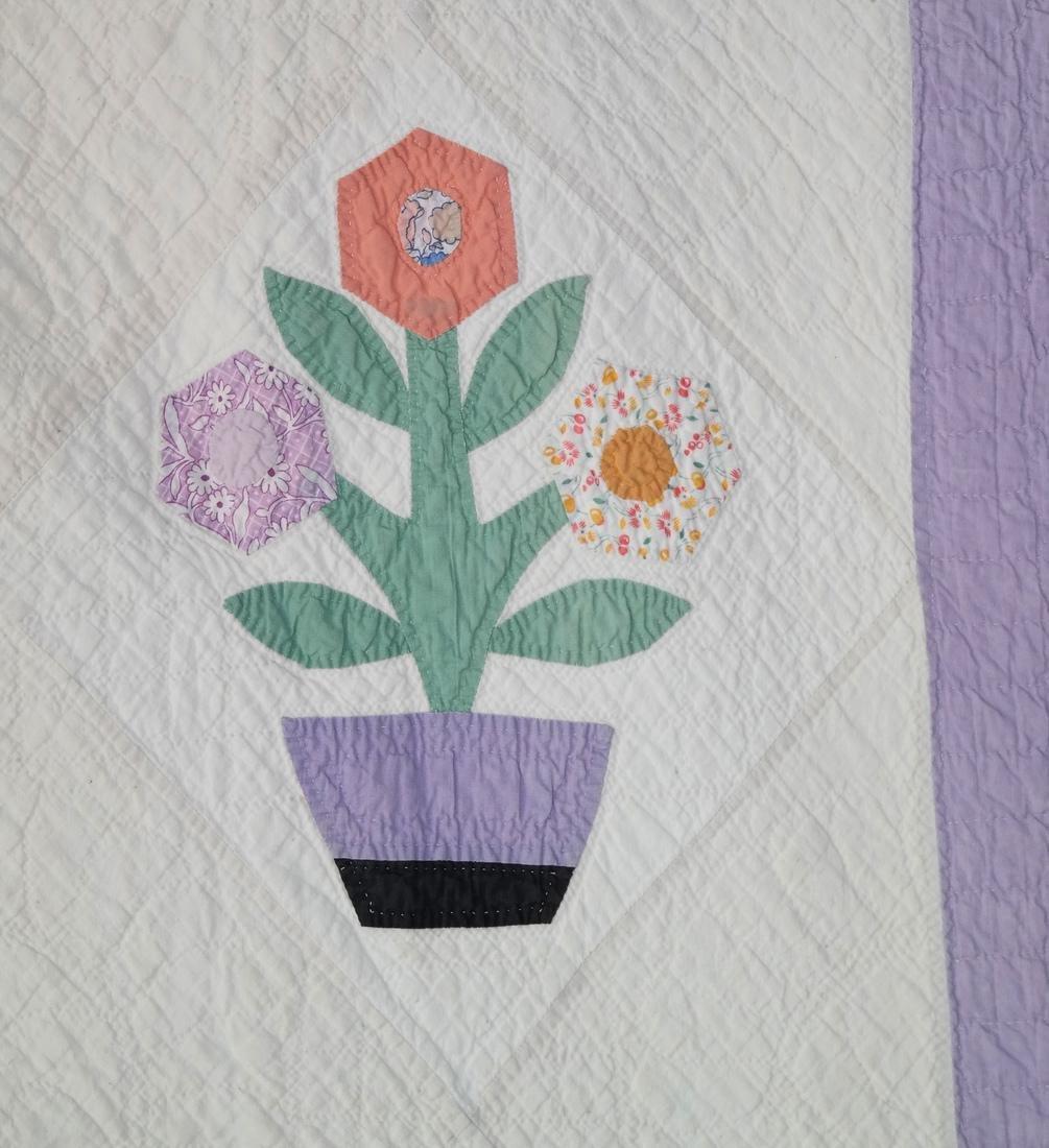 Quilt, Basket of Flowers Pattern, c. 1930 - 2
