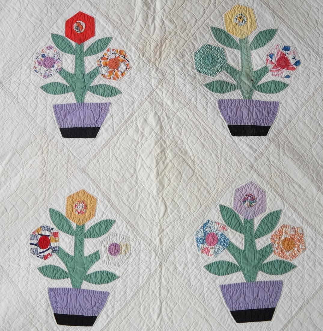 Quilt, Basket of Flowers Pattern, c. 1930 - 3