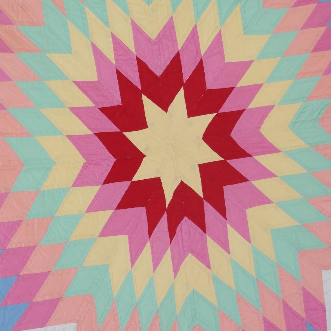 Amish Rising Star Quilt, c. 1980 - 3