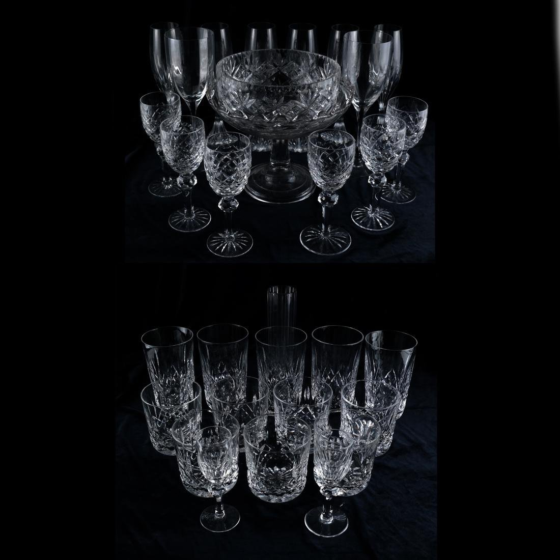 Waterford, Baccarat - Glasses, Vase