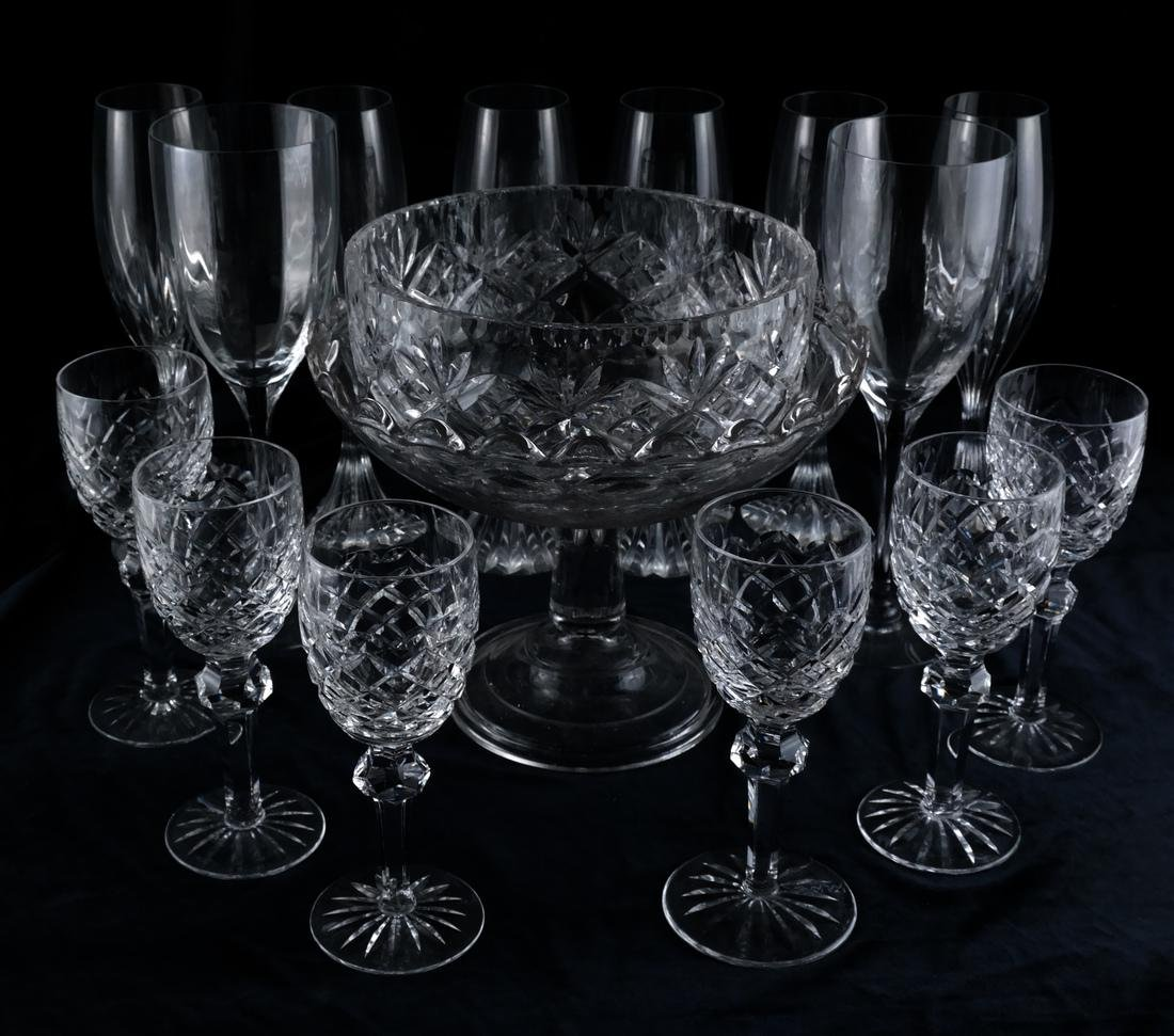 Waterford, Baccarat - Glasses, Vase - 2