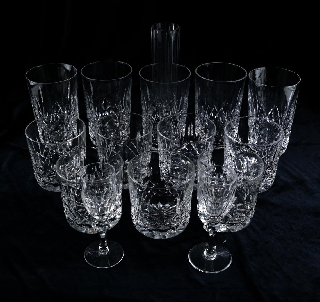 Waterford, Baccarat - Glasses, Vase - 3