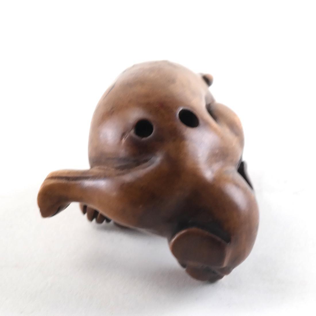 Japanese Carved Wood Netsuke - 4