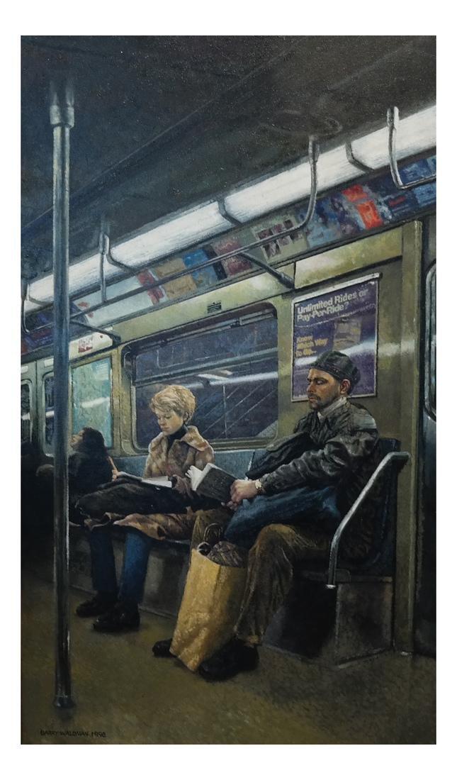 Barry Waldman - Subway Ride - O/C