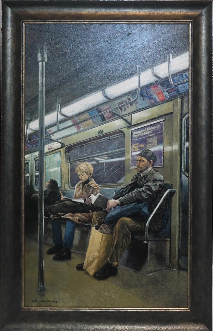 Barry Waldman - Subway Ride - O/C - 2