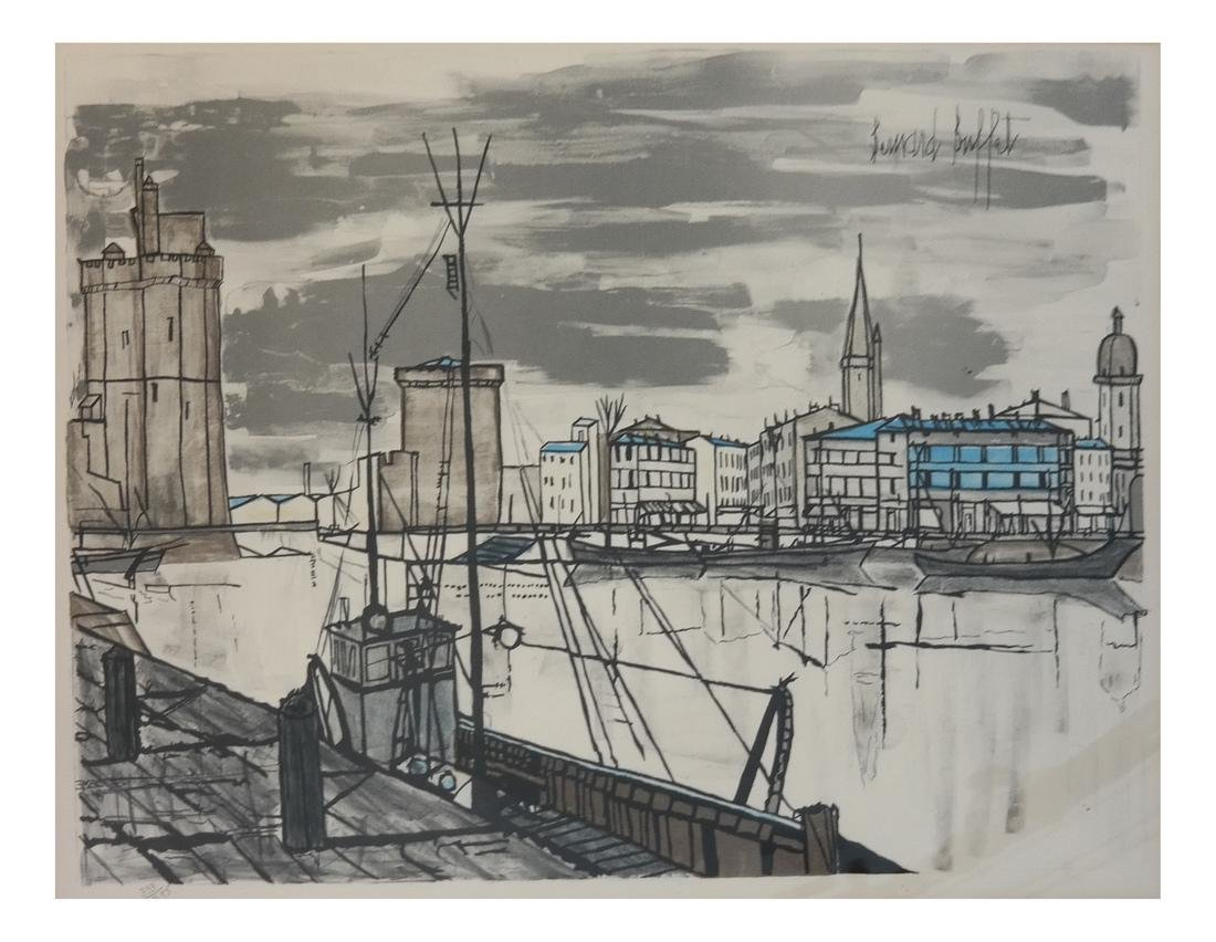 Bernard Buffet, Canal Scene - Lithograph