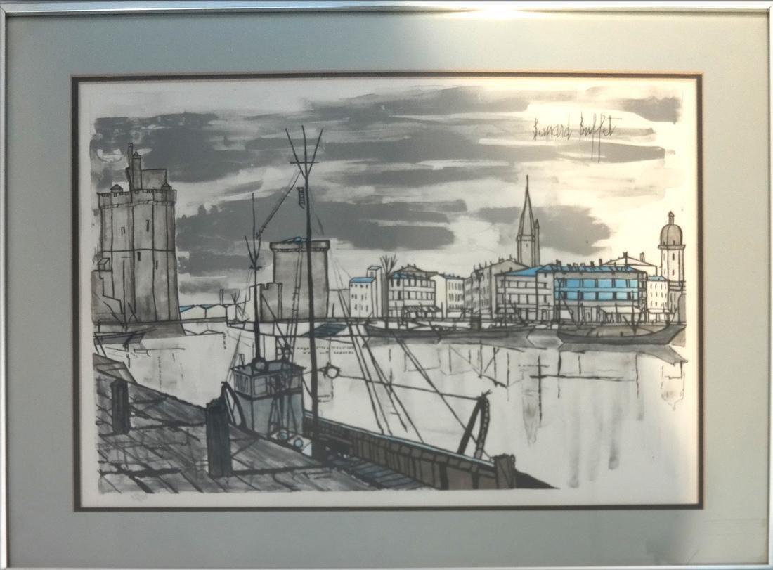 Bernard Buffet, Canal Scene - Lithograph - 2