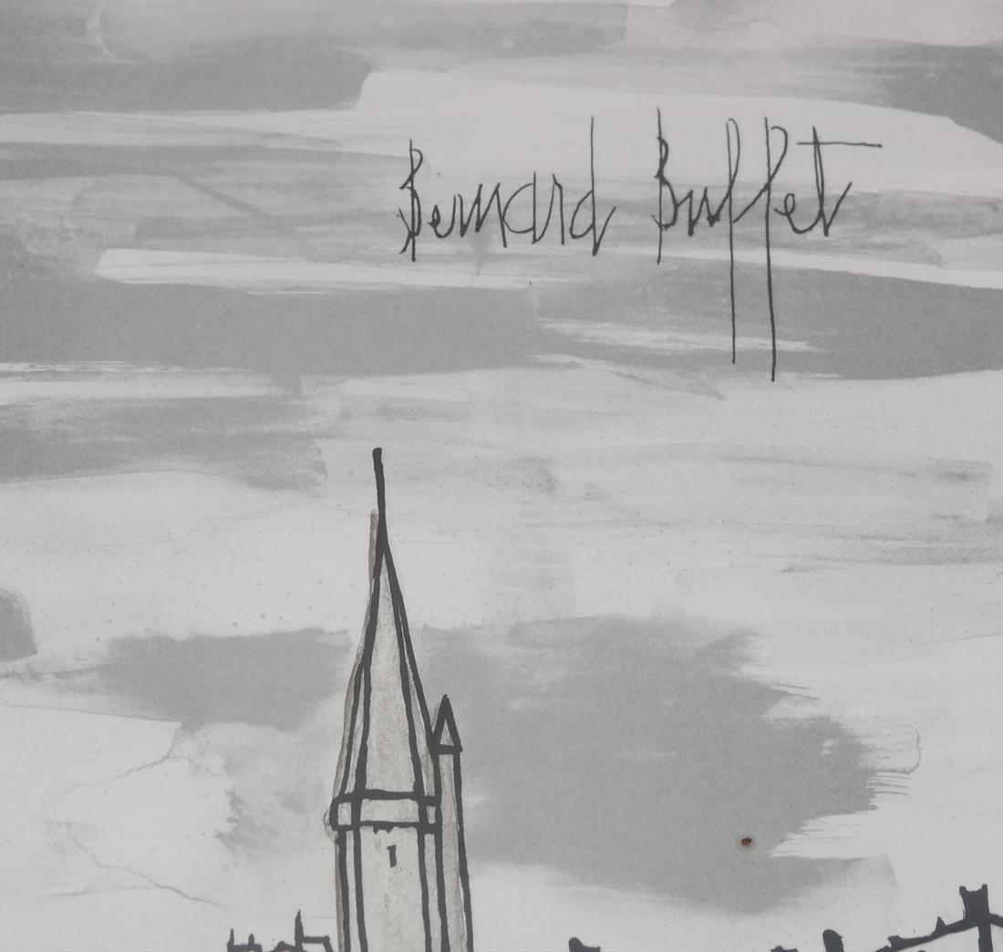 Bernard Buffet, Canal Scene - Lithograph - 3