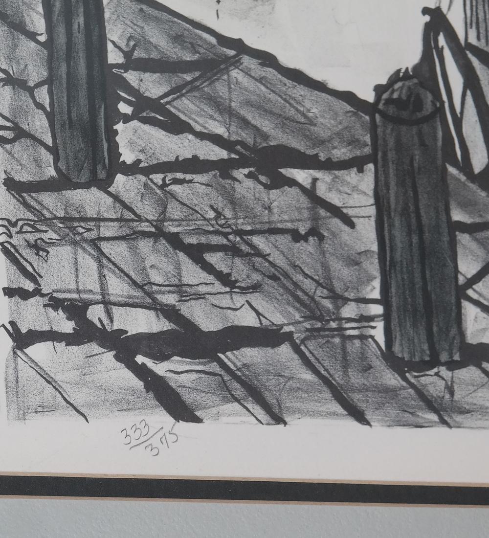 Bernard Buffet, Canal Scene - Lithograph - 4